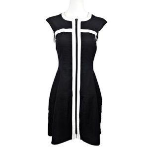 Nanette Lepore • Black & White Zipper Front Dress